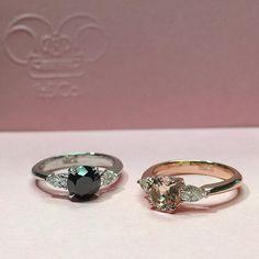 •IN L O V E•  Iz&Co. Morganite and Black Diamond ring
