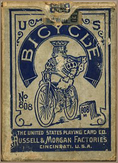 BICYCLE CARDS - US8b   1895