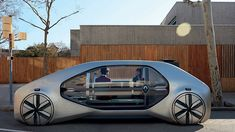 At the 2018 Geneva Motor Show, Renault introduced EZ-GO, a robo-vehicle and ride-hailing concept, with an iconic design meant to integrate into the environment and maximize new ways of moving around congested cities. Maserati Quattroporte, Peugeot, Nissan, Transport Public, Automobile, Robot, Flying Car, Geneva Motor Show, Futuristic Cars
