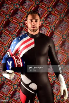 Luger Chris Mazdzer poses for a portrait during the Team USA PyeongChang 2018 Winter Olympics portraits on April 2017 in West Hollywood, California. Athletic Supporter, Athletic Men, Bobsleigh, Lycra Men, Usa Olympics, Winter Olympics, Team Usa, Sport Man, Olympic Games