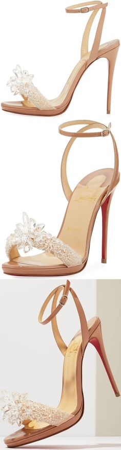 Christian Louboutin 'Crystal Queen' Embellished Sandals #weddingshoes