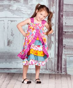 Take a look at the Yellow & Purple Violet Olivia Dress - Infant, Toddler & Girls on #zulily today!