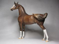 "EFCM PS Arabian Stallion 2009 OOAK ""Yager"" Show Name: ""Jager Bomb""."