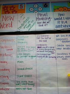 GLAD - cognitive content dictionary - 4th gr