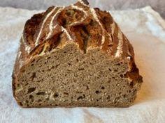 Mischbrot mit Sauerteig - Backen mit Christina Bread Baking, Quiche, Banana Bread, Bakery, Food And Drink, Favorite Recipes, Homemade, Desserts, Baguette