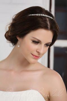 Single Row Rhinestone Headband - #Wedding Accessories #SimplyBridal