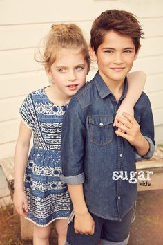 Claudia & Biel from Sugar Kids for Lefties Kids Summer Collection by Esperanza Moya.