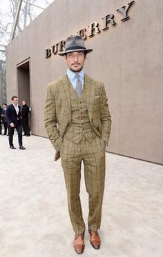 37a58aeb38e David Gandy at London Collections  Men Autumn Winter 2015 Day 4 wearing  Henry Poole   Co suit