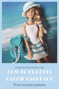 Barbie backpack #barbiebag #barbiebackpack #freecrochetpattern