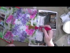 Art Journal Paper Napkin Background - YouTube