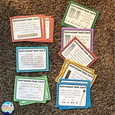 Here is an example of how to use Orff Instruments in centers. I love using instrument exploration task cards in centers! Kindergarten Music, Preschool Songs, Music Activities, Teaching Music, Music Games, Teaching Resources, Teaching Ideas, Teaching Materials, Music Lesson Plans