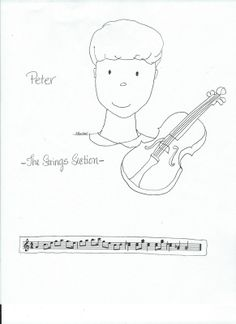 peter and the wolf flashcards for matching the characters to the instruments elementary music. Black Bedroom Furniture Sets. Home Design Ideas