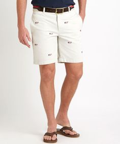 6fef9e939e Prep your patriotism with the Embroidered Whale Flag Summer Twill Club  Shorts from Vineyard Vines!