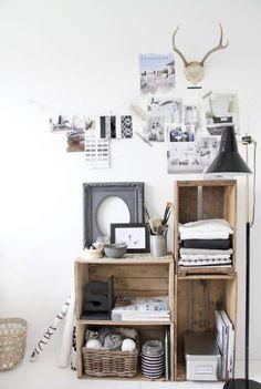 Inspirerend | Open kast van houten kratten Door Winnie26
