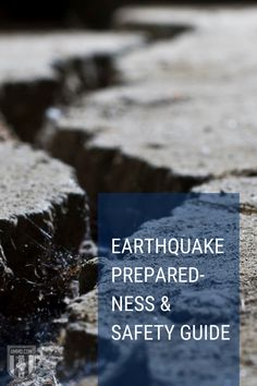 Many states and territories in the US are at risk of earthquakes. Read our guide on earthquake preparedness and safety plans to survive a disaster. #earthquake #guide #preparedness
