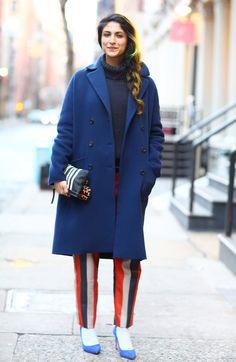 Streetpeeper.com Street Fashion Coat: Fuzzy Camel Coat over Camel Blouse Pants: Camel Drop Crotch Pants Bag: Red Croc Skin Bag