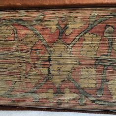This fabulous fore edge painting decorates a 13th century illuminated Biblia Sacra in the University of Edinburgh library