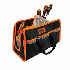 Logical Organizer Storage Pouch Bit Nails Parts Tool Bag Canvas Electrician Screws Hardware Hand Drill Tool Organizers