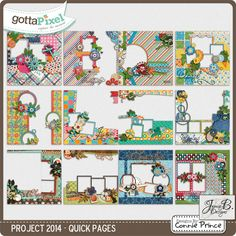 Project 2014 - QuickPage Album :: Gotta Pixel Digital Scrapbook Store from Designs by Connie Prince