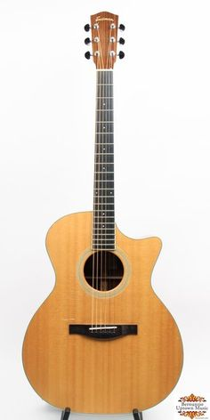 This versatile, performance ready guitar from Eastman can go from flat picks to fingerstyle playing with ease.  The guitar features a solid spruce top, solid mahogany back, sides and neck with a great sounding Fishman Pickup.  This guitar offers top of the line features at a much more attainable price.   List Price New:  $945...This one is nice to find on the used market.