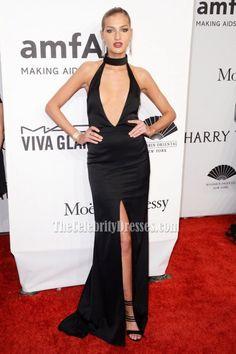 Simona Andrejic Sexy Black High Slit Evening Dress 2016 amfAR New York Gala - TheCelebrityDresses