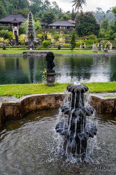 The water gardens of Tirtagamgga in eastern Bali, Indonesia