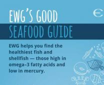 Get a free copy of EWG's Good Seafood Guide!  (Find out which fish are sustainable and low in mercury and which fish to avoid)