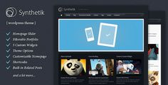 Synthetik is a theme for Wordpress. The theme design has been developed for users who appreciate visual browsing and a minimal layout.