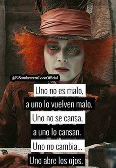 Cierto!!   Sígueme como Rose Moon para mucho más!!💋🌚 Art It, Sad Quotes, Love Quotes, Sad Texts, Im Crazy, Sad Love, Disney Quotes, Spanish Quotes, Johnny Depp