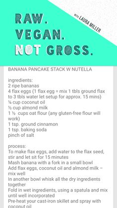Pancakes - Raw Vegan Not Gross by Laura Miller.