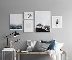 Gallery wall for the living room. Inspiration for the living room - Desenio