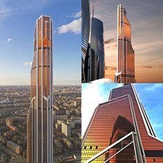 mercury city tower mosc rusia la torre ciudad mercurio es un rascacielos ubicado