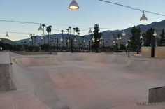 Skate Park, Palm Springs, First World, Sidewalk, Exterior, California, Usa, Walkway, The California