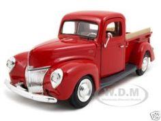 1940 Ford Pickup Diecast Car Model 1/24 Red Die Cast Car by Motormax.  $12.99