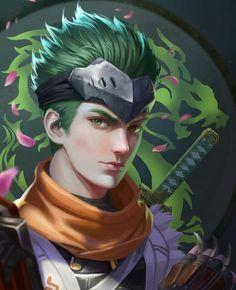 Genji - Overwatch, K sen Genji Shimada, Hanzo Shimada, 3d Character, Character Design, Wonderland Events, Overwatch Hanzo, Gaming Memes, Nerd Geek, Game Art