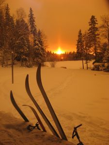 Enjoy an after-ski sunset at Cedar Bay. The Nordic Nomads is a volunteer organization that maintains the ski trails at Cedar Bay and surrounding area.