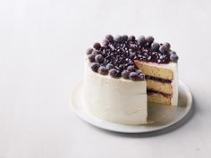 Concord Grape Layer Cake recipe from Food Network Kitchen via Food Network Dinner Party Desserts, Fall Desserts, Dinner Parties, Cake Recipe Food Network, Food Network Recipes, Decadent Chocolate, Chocolate Desserts, Layer Cake Recipes, Dessert Recipes