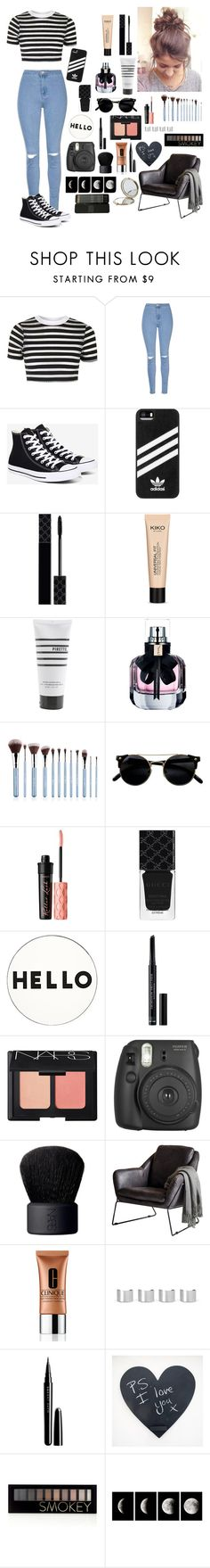 """•There's no one else but you•"" by islandformisfits ❤ liked on Polyvore featuring Topshop, Glamorous, Converse, adidas, Gucci, Pirette, Yves Saint Laurent, Benefit, Lisa Perry and Christian Dior"