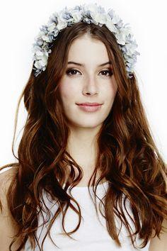 Floral Headband - Grey/Blue