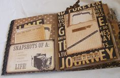 Awesome Album from Creative Cafe': Documented Chipboard Mini Album