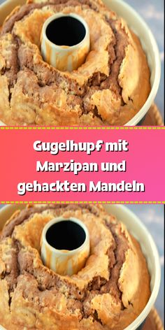 Gugelhupf with marzipan and chopped almonds - Dough for a slightly smaller marzipan-almond ring cake: 250 g soft butter 200 g sugar 1 tsp vanilla - Easy Banana Bread, Banana Bread Recipes, Delicious Cake Recipes, Yummy Cakes, Red Lobster Biscuits, Sweet Bakery, Cake & Co, Chocolate Recipes, Fondant