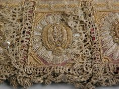 Glove  National Trust Inventory Number 1276902.2 CategoryCostume Datecirca 1610 - circa 1630 MaterialsLeather and silk with gold and silv...