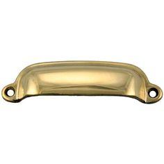 Cabinet & Furniture Cast Brass Bin Pull Kennedy Hardware - Restoration Hardware for Antique Furniture