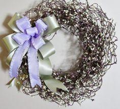 Spring Berry Wreath - 16.5 Grapevine Wreath, Premium Silk Floral Wreath