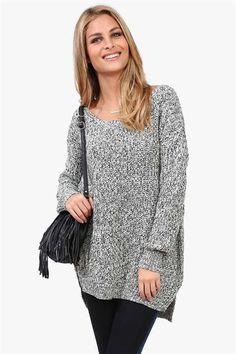 Boyfriend Knit in Grey