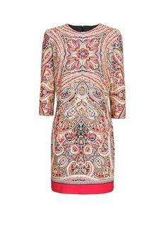 Scarf print cotton dress