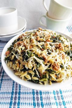 One-Pot Orzo Pasta with Italian Sausage and Kale — Yay! For Food