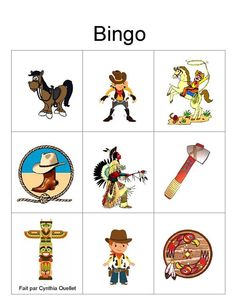 Summer Camp Games, Camping Games, Bingo, Wild West Party, Cowboy Birthday Party, Cowboy Pictures, Cowboys And Indians, Matching Games, North America