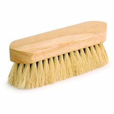 """7 1/2 inch Natural Tampico Mix Body Grooming Brush by Kelley. $8.95. Natural Tampico Mix Body Brush - Pony Express Dandy Style Brushes have beautiful, 7 1/2"""" polished hardwood handles with a mix of natural and synthetic fibers."""