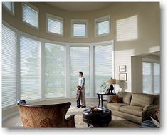 Soft, sheer Hunter Douglas Silhouette Window Shadings. It feels like a curtain. It works like a blind. And you can't really call it a shade. But Hunter Douglas has created a window covering so revolutionary, it actually controls the light without sacrificing privacy.